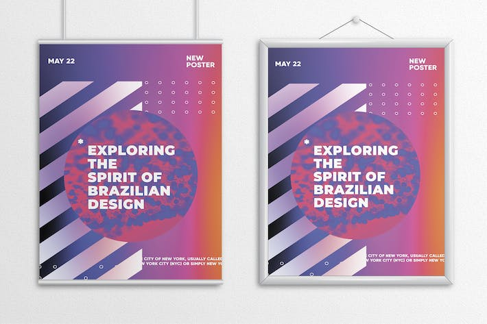 Thumbnail for Abstract Flat Poster Template