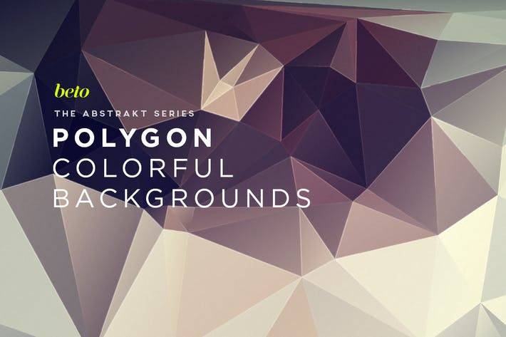 Cover Image For Polygon Abstract Backgrounds V13