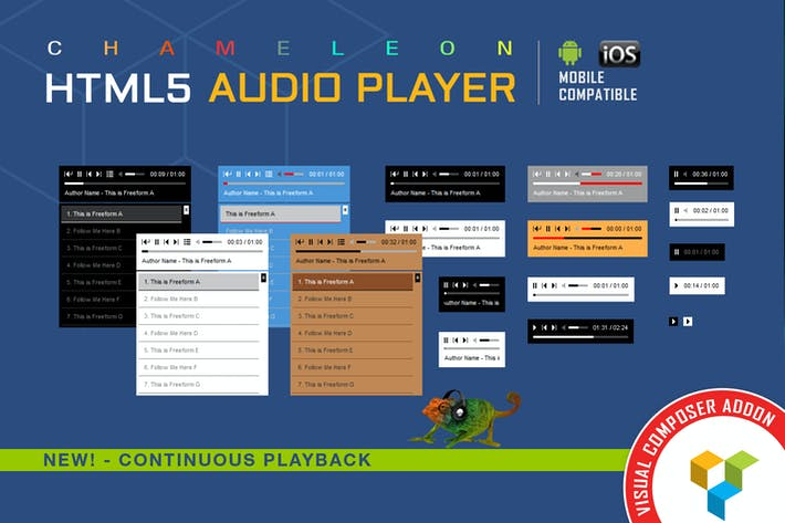 Thumbnail for Visual Composer Addon - Chameleon Audio Player