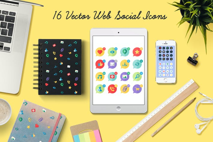 Thumbnail for Web Social Icons