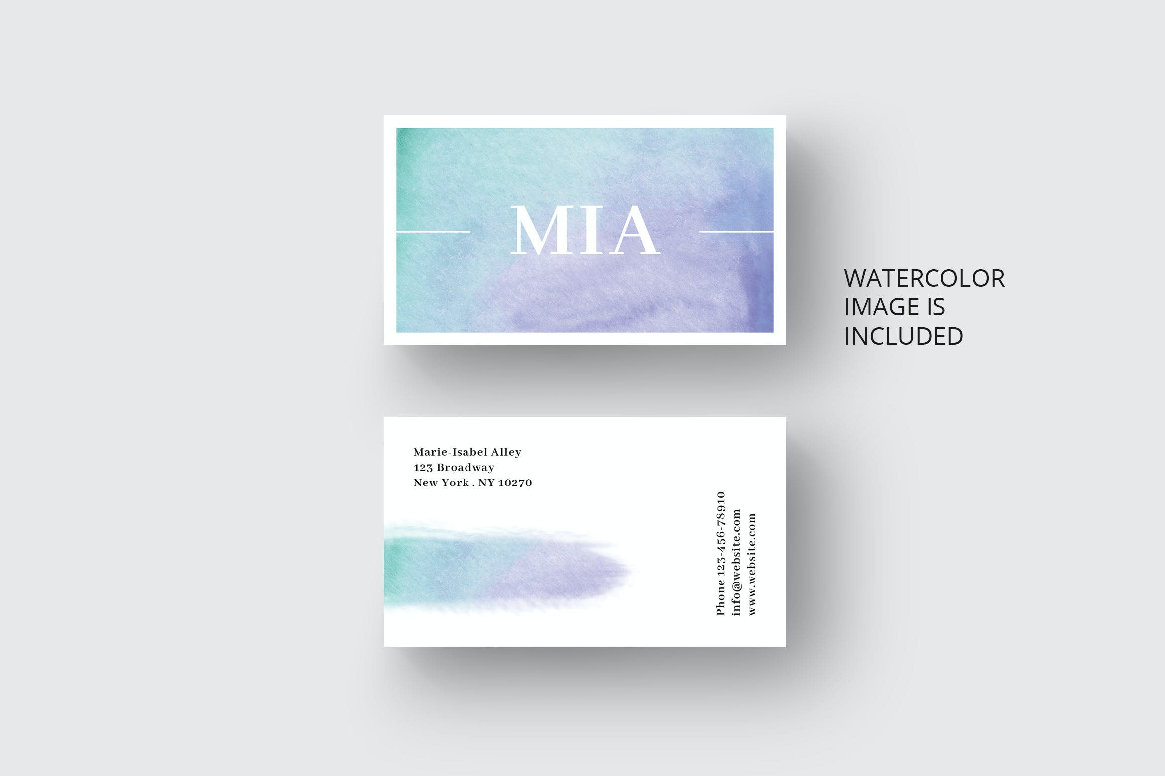 Watercolour Template