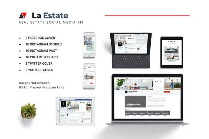 Cover Image For La Estate Real Estate Social Media Kit