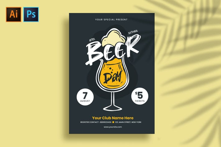 Thumbnail for International Beer Day Flyer/Poster Template