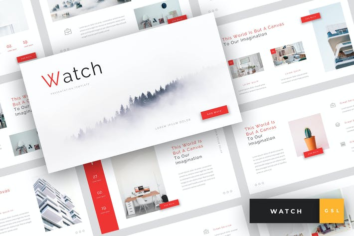 Thumbnail for Watch - Creative Google Slides Template