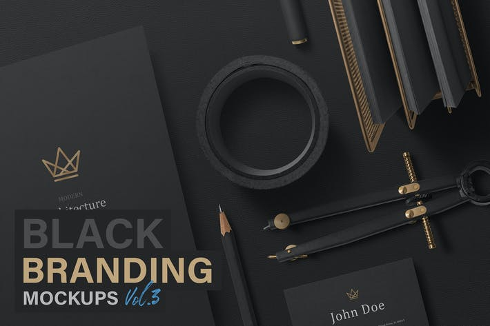Thumbnail for Black Branding Mockups Vol.3
