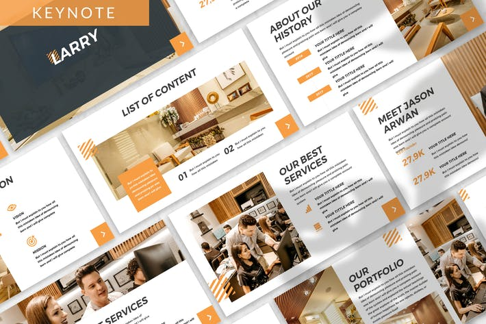 Thumbnail for Larry - Business Keynote Template