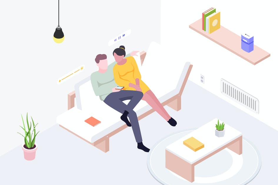 Download Smart Things for Smart Home Isometric Illustration by angelbi88