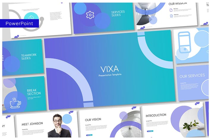 Thumbnail for Vixa PowerPoint Template