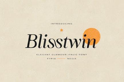 Blisstwin - Elegant Glamour Italic Con serifa
