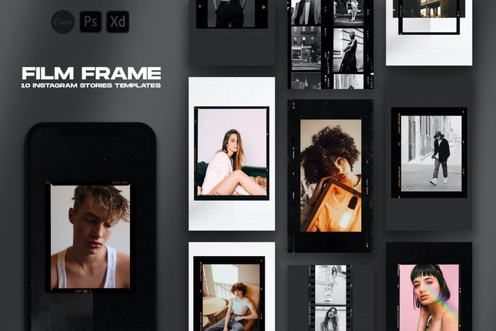 Thumbnail for Film Frame Instagram Stories Template