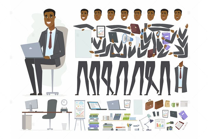 Thumbnail for African businessman - character constructor