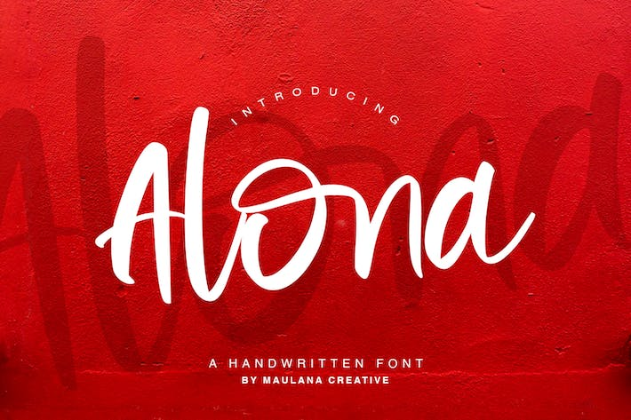 Thumbnail for Alona - Handwritten Font