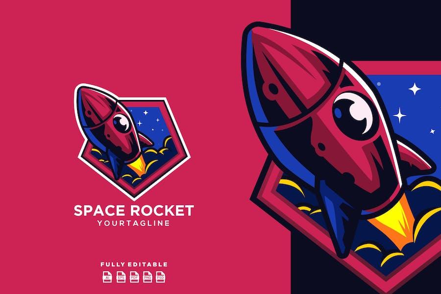 Rocket Space Planet Logo