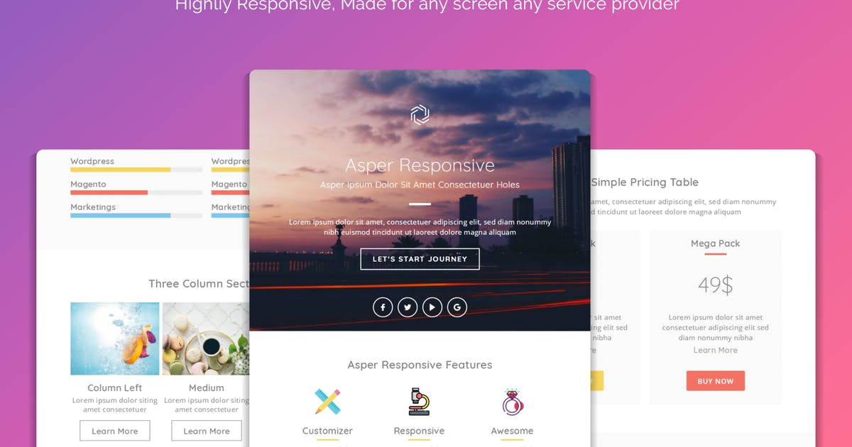 Download Asper Responsive Multipurpose Email Template by Avagon