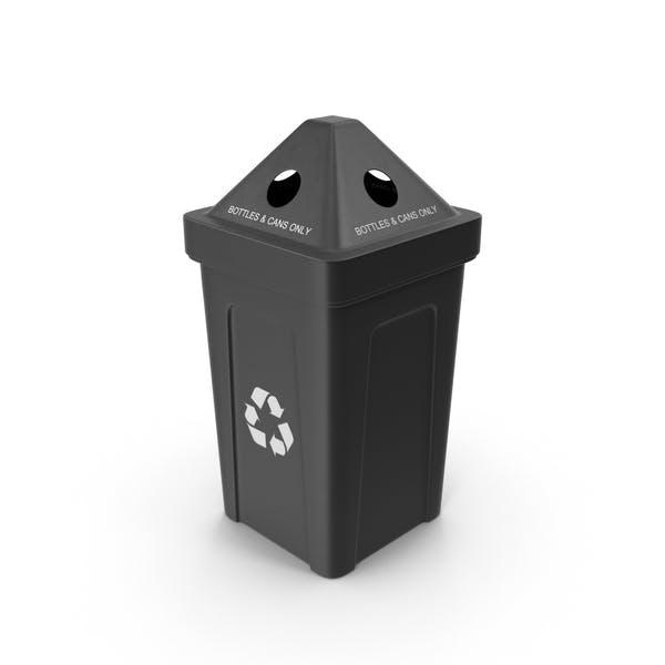 Black Recycling Bin