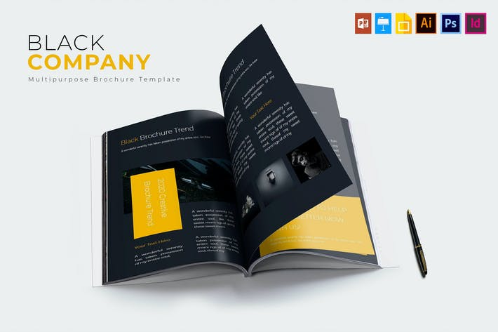 Cover Image For Black Company | Brochure Template