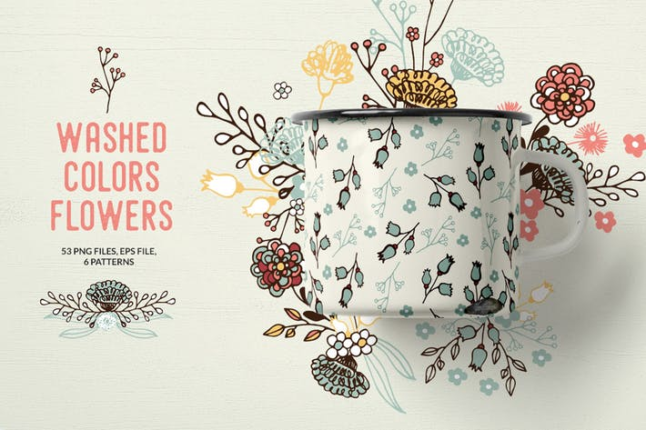 Thumbnail for Washed Colors Flowers