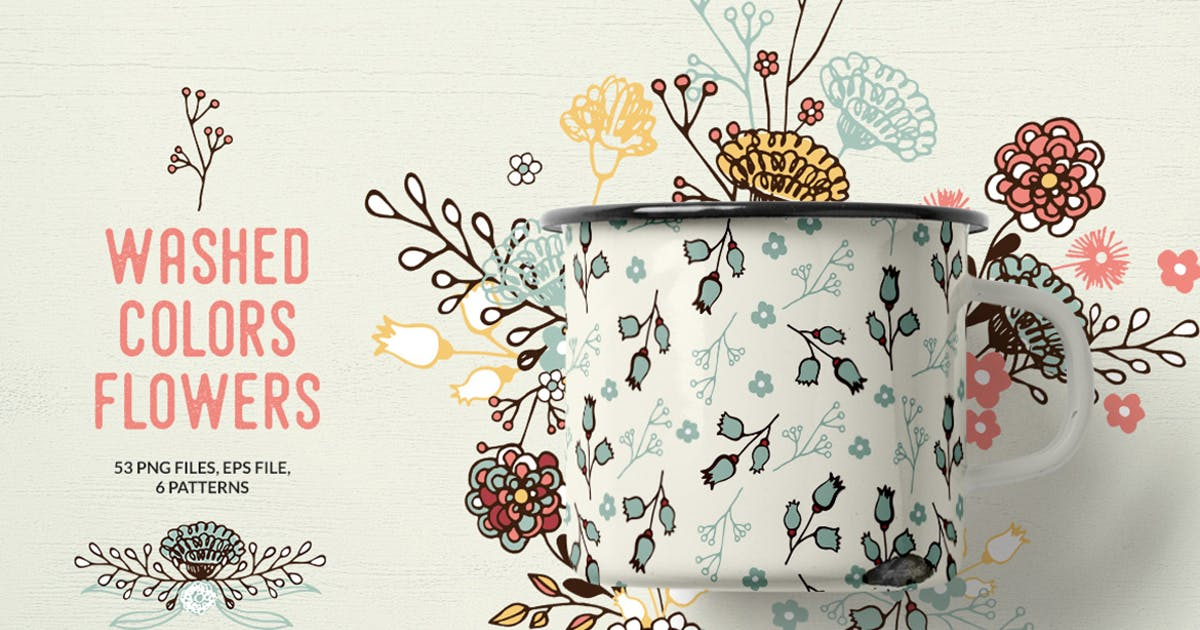 Download Washed Colors Flowers by Webvilla