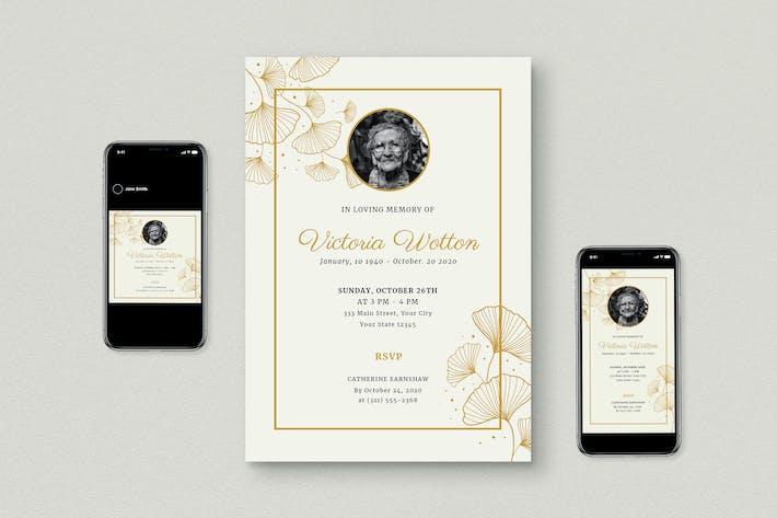 Funeral Invitation Flyer Set