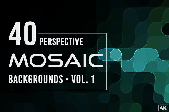 40 Perspektivische Mosaik-Hintergründe - Band 1