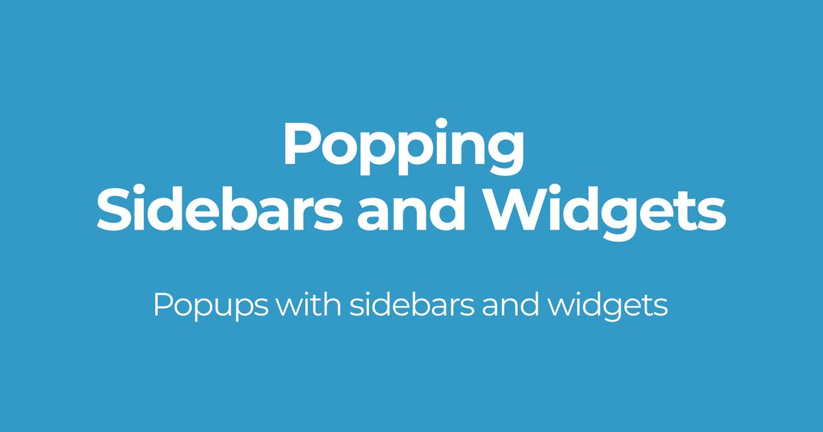 Download Popping Sidebars and Widgets by OTWthemes