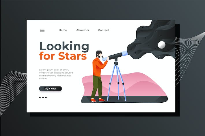 Thumbnail for Astronomy Landing Page Illustration