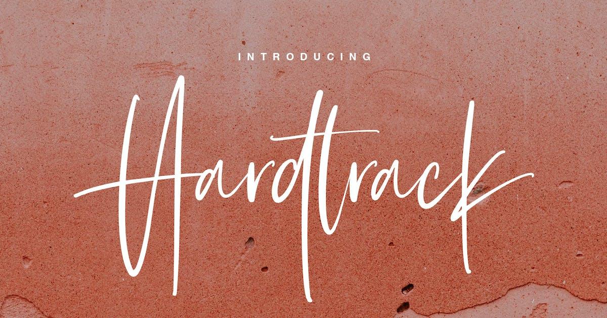 Download Hardtrack - Calligraphy Brush Font by maulanacreative