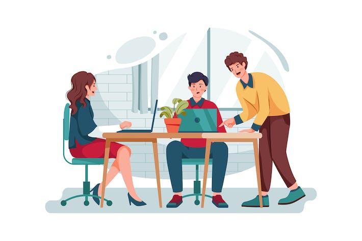 Thumbnail for Geschäftsleute arbeiten zusammen und helfen anderen