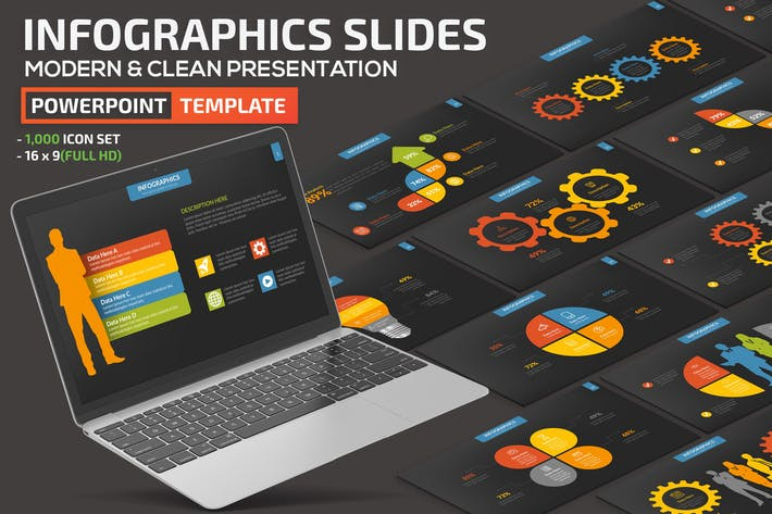 Thumbnail for Dark Infographic Element Powerpoint Presentation