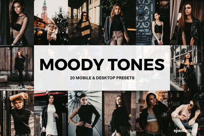 Thumbnail for 20 Moody Tones Lightroom Presets and LUTs