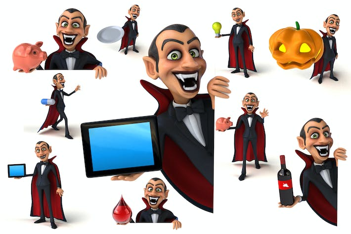 Thumbnail for 10 fun cartoon Vampires !
