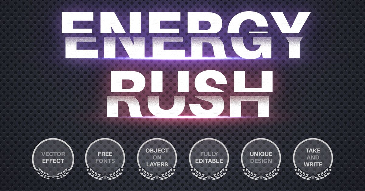Download Energy ruh - editable text effect  for illustrator by rwgusev