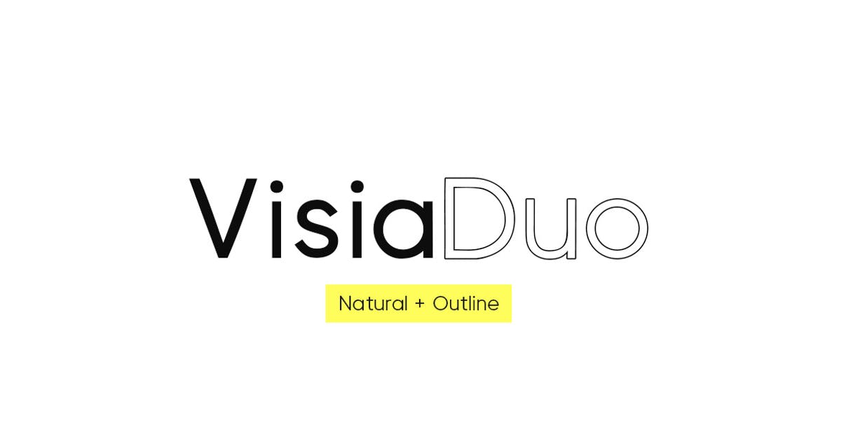 Download VISIA Duo (Natural & Outline) - Geometric Typeface by designova