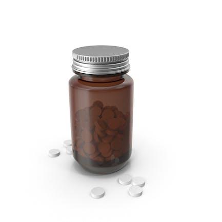 Botella Médica con Pastillas