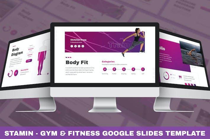 Stamin - Gym & Fitness Google Slides Template