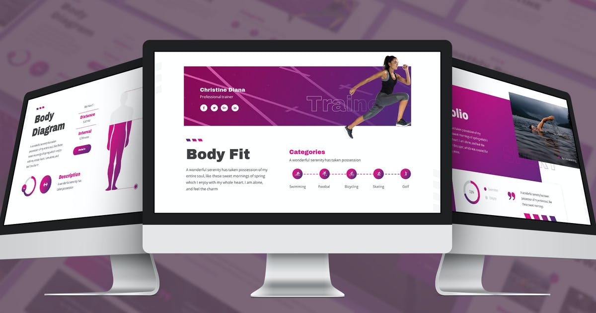 Download Stamin - Gym & Fitness Google Slides Template by SlideFactory
