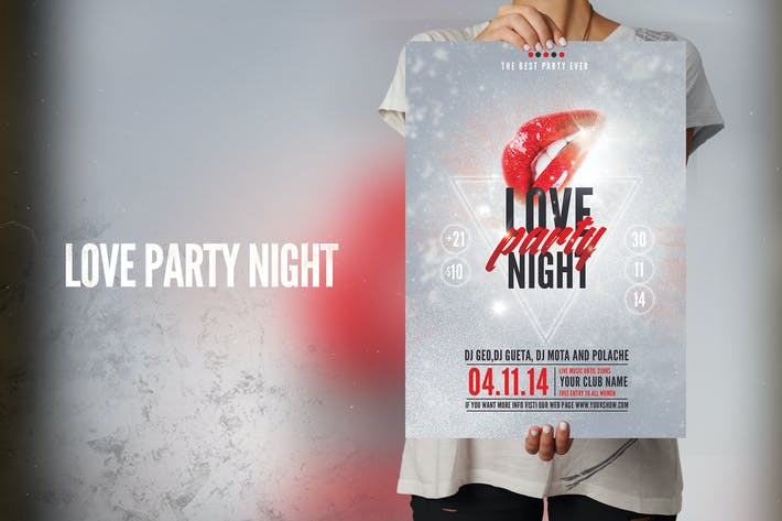 Thumbnail for Love Party Night Flyer