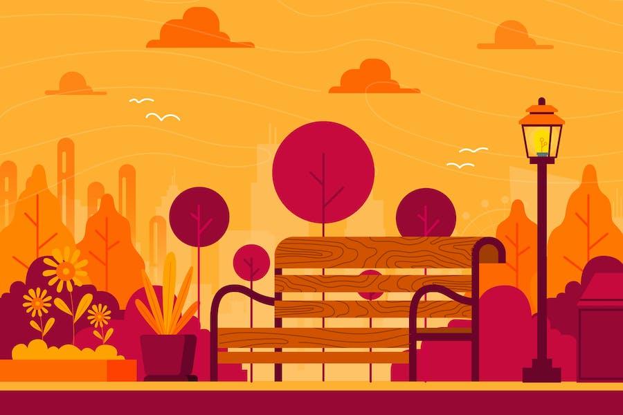 Garden - Background Illustration