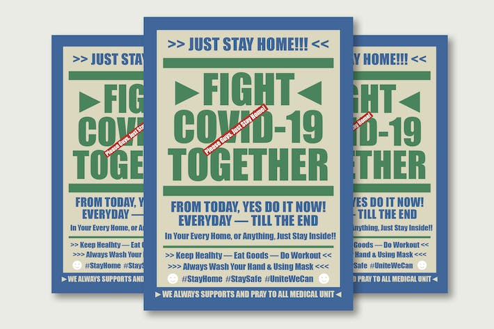 Fight Covid-19 Typography Poster