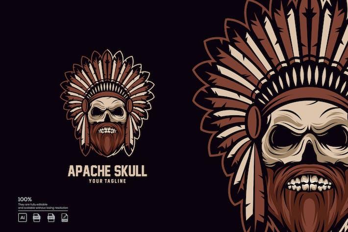 Thumbnail for Apache Skull logo design
