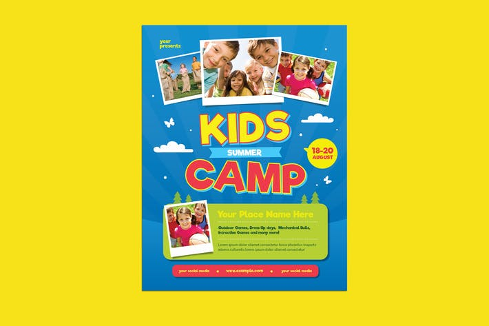 Cover Image For Summer Kids Camp Flyer
