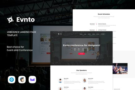 Evnto - Event & Conference Unbounce Landing Page
