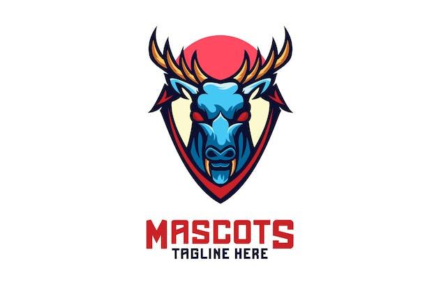 Deer Mascots Logo