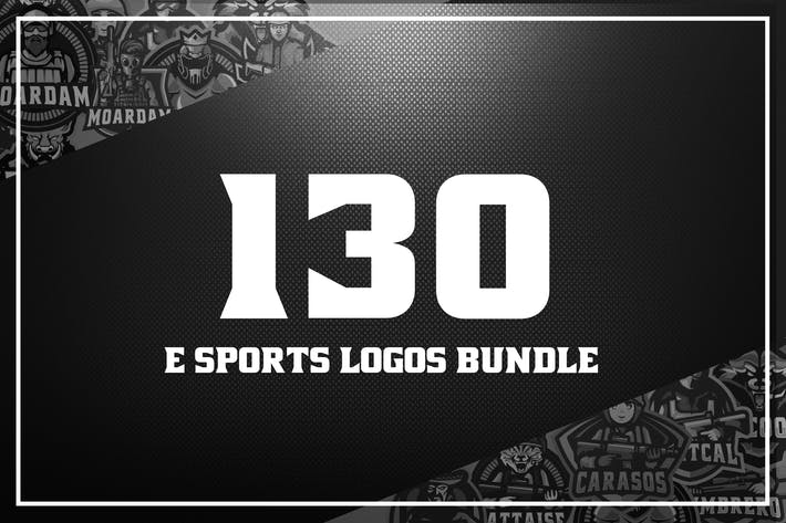 Thumbnail for 130 E Sport Logos Bundle