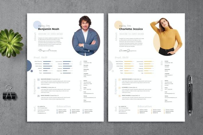 Thumbnail for Resume CV Template 13