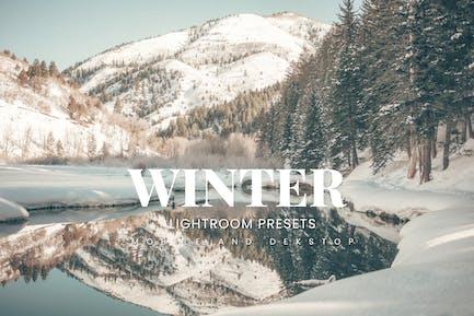 Winter Lightroom Presets Dekstop and Mobile