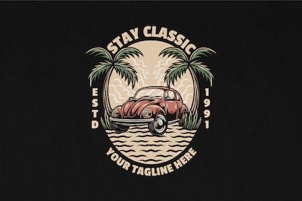 Ilustración clásica Logo vintage