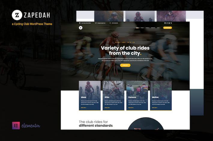 Thumbnail for Zapedah - Cycling Club WordPress Theme