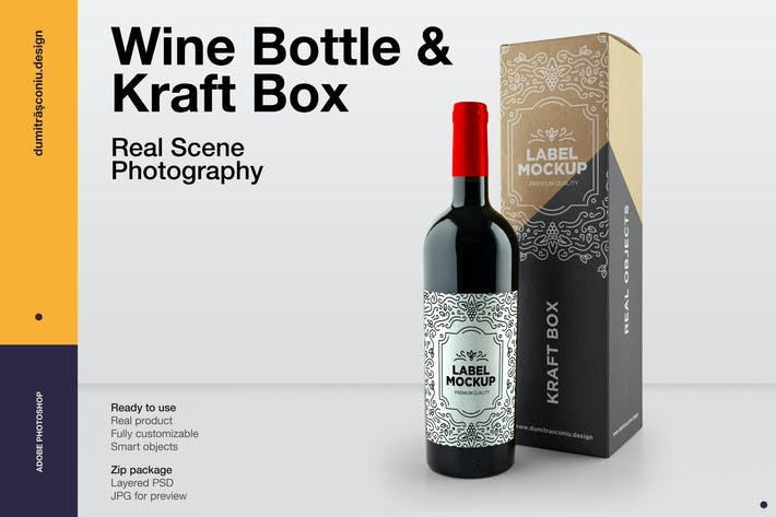 Thumbnail for Wine Bottle & Kraft Box
