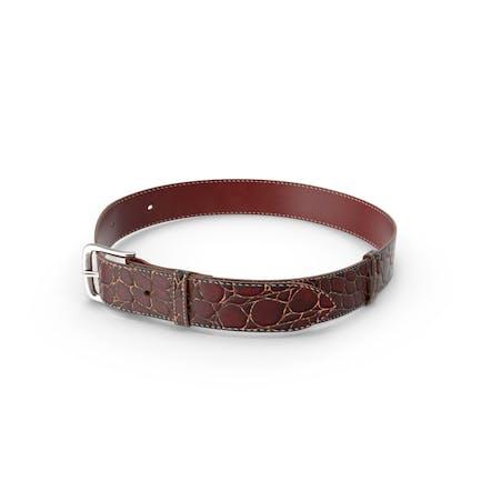 Crocodile Leather Belt Red